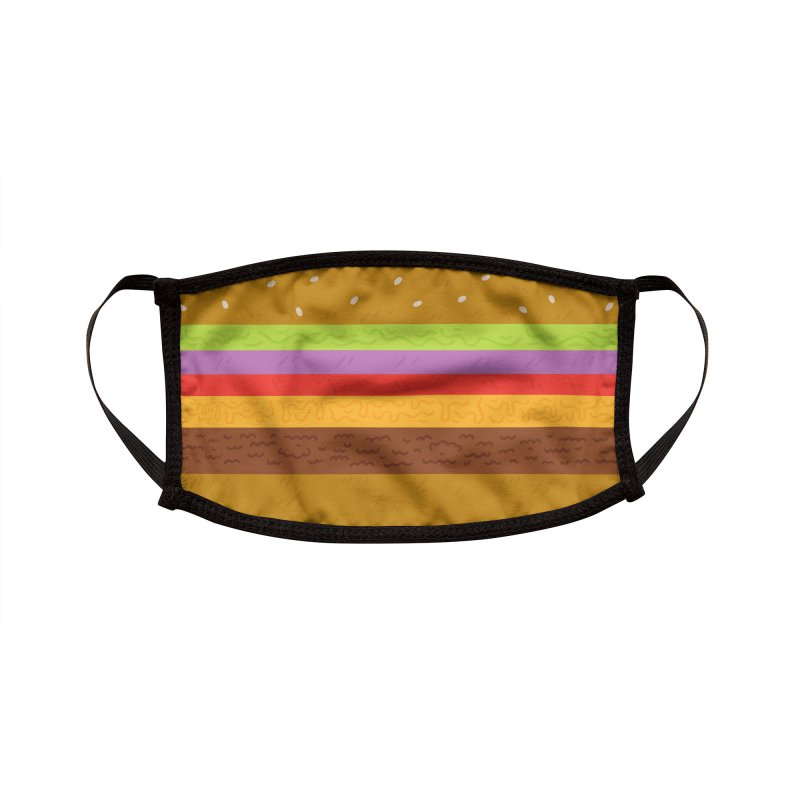 Cheeseburger Face ... Mask Accessories Face Mask by Rupertbeard
