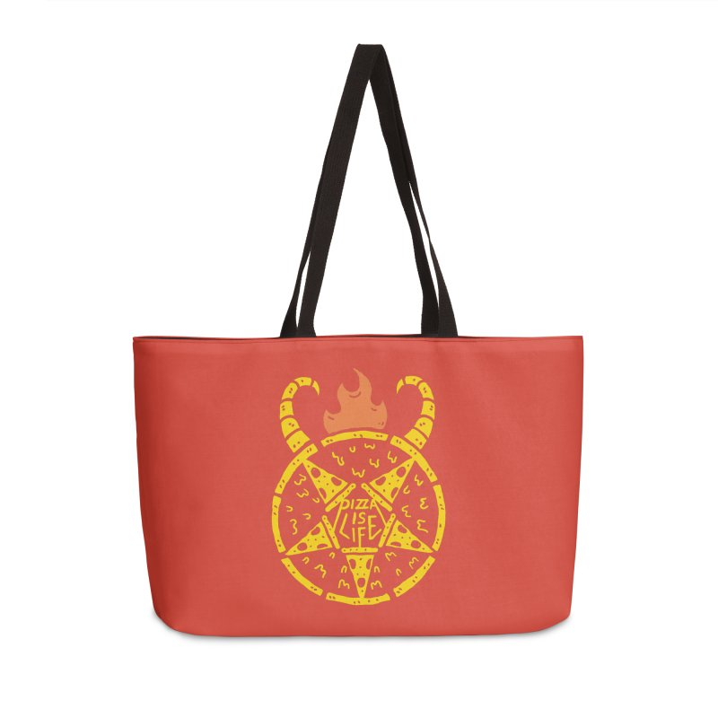 Pizza is life (Demon Edition) Accessories Weekender Bag Bag by Rupertbeard