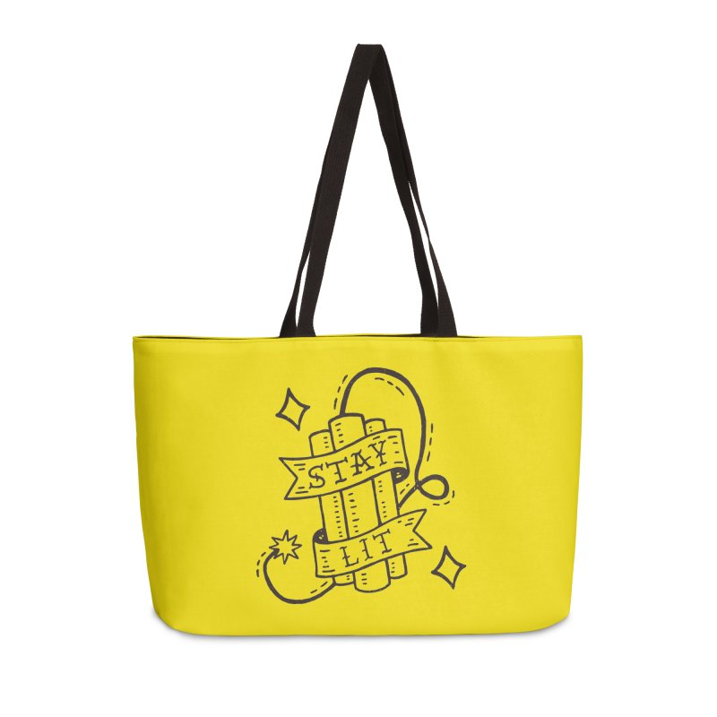 Stay Lit Accessories Weekender Bag Bag by Rupertbeard