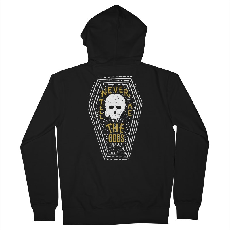 Never Tell Me The Odds Men's Zip-Up Hoody by Rupertbeard