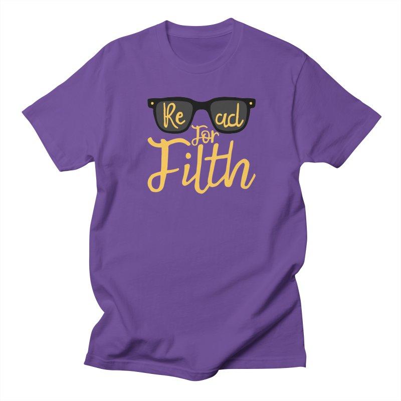 Read For Filth  Men's T-Shirt by Rupertbeard