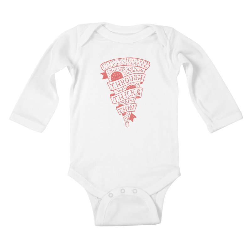 Through Thick & Thin Kids Baby Longsleeve Bodysuit by Rupertbeard