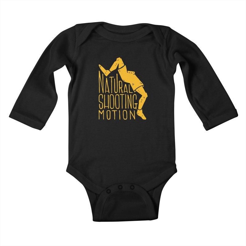 NATURAL SHOOTING MOTION Kids Baby Longsleeve Bodysuit by Rupertbeard