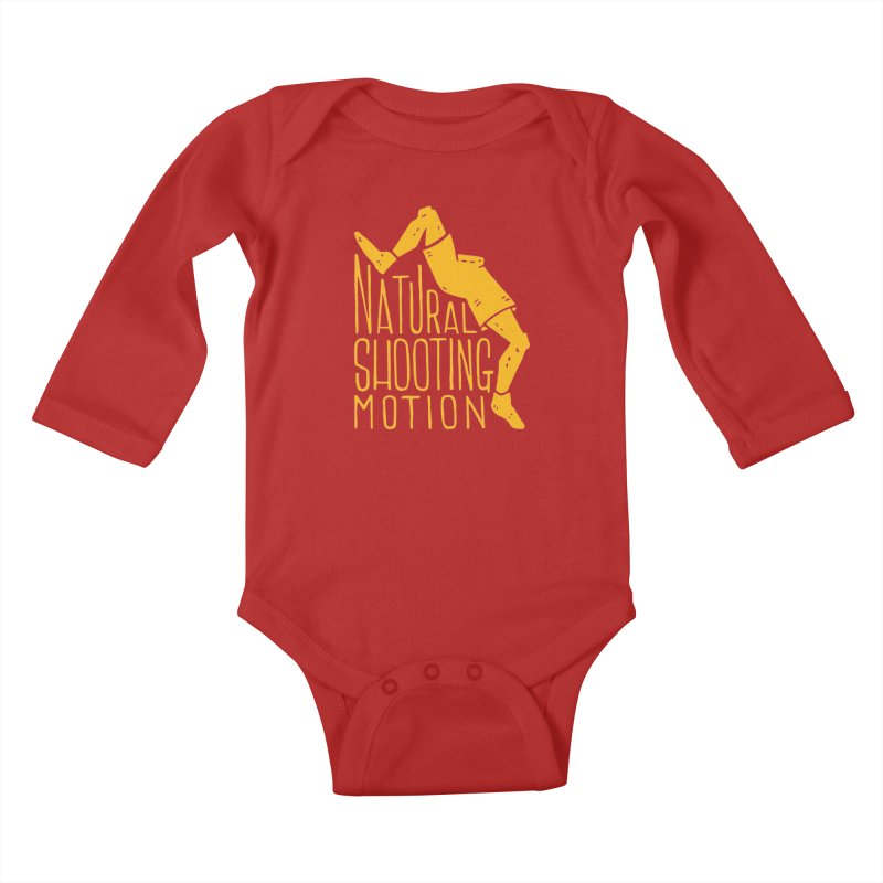 NATURAL SHOOTING MOTION Kids Baby Longsleeve Bodysuit by Rupertbeard