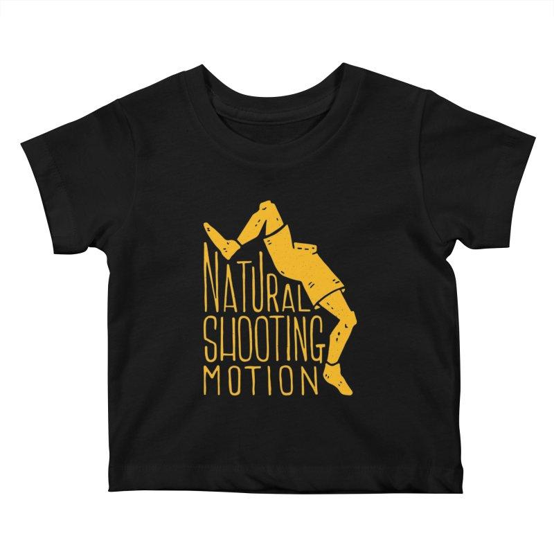 NATURAL SHOOTING MOTION Kids Baby T-Shirt by Rupertbeard