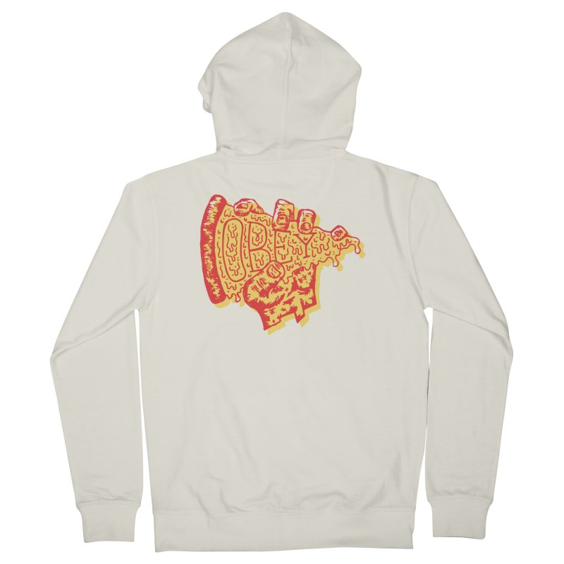 Obey The Pizza Men's Zip-Up Hoody by Rupertbeard