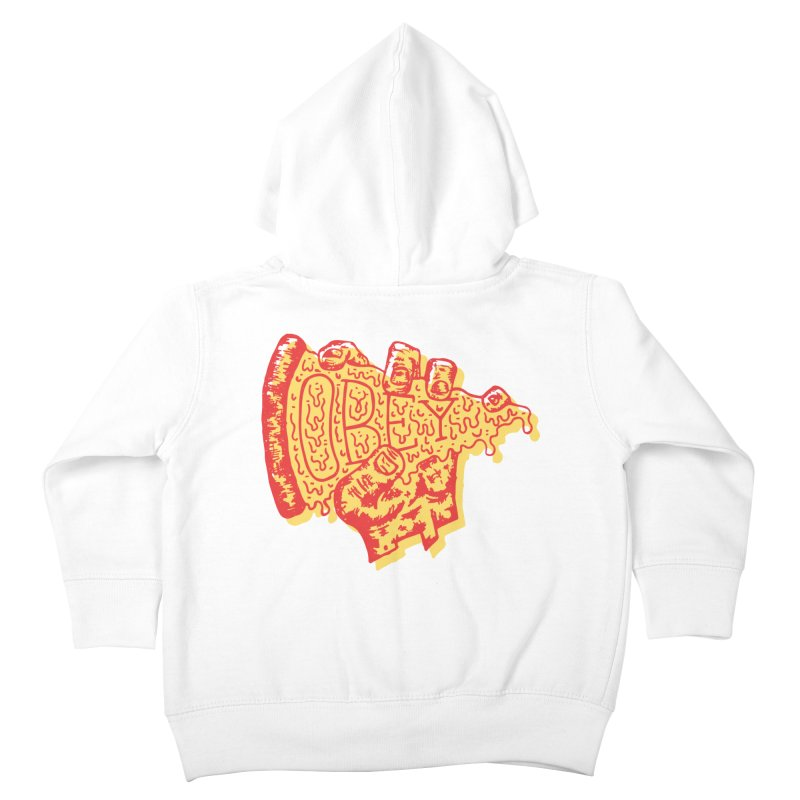 Obey The Pizza Kids Toddler Zip-Up Hoody by Rupertbeard