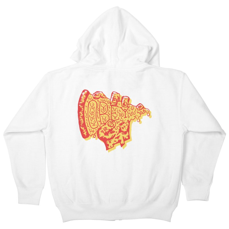 Obey The Pizza Kids Zip-Up Hoody by Rupertbeard