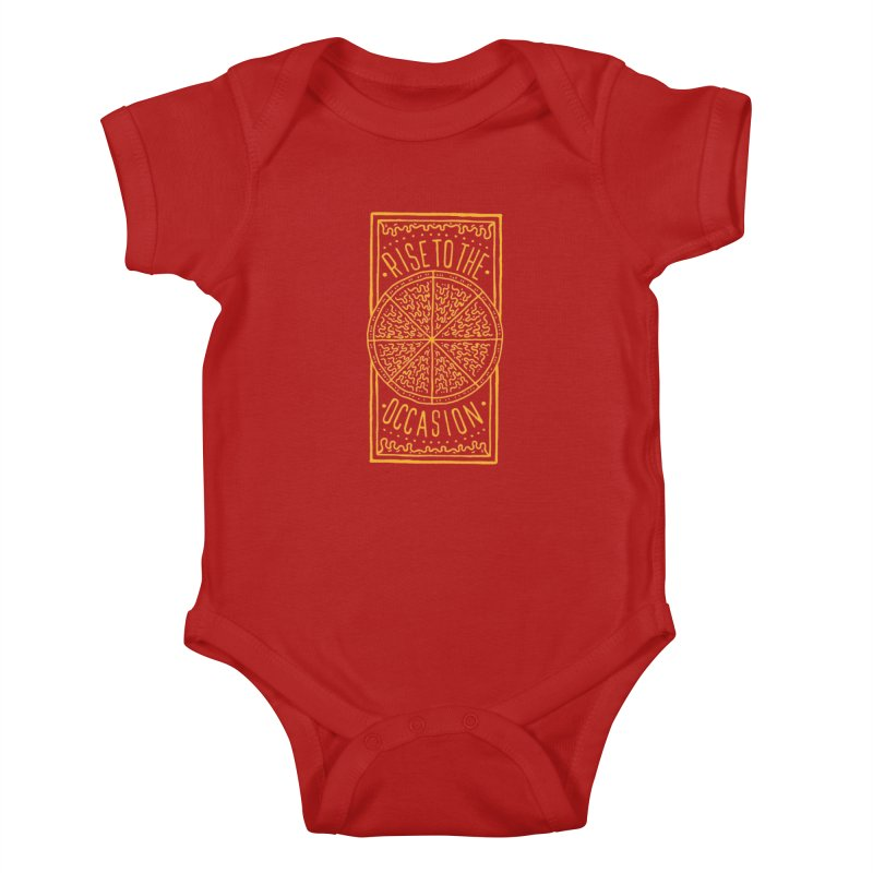 Rise To The Occasion  Kids Baby Bodysuit by Rupertbeard