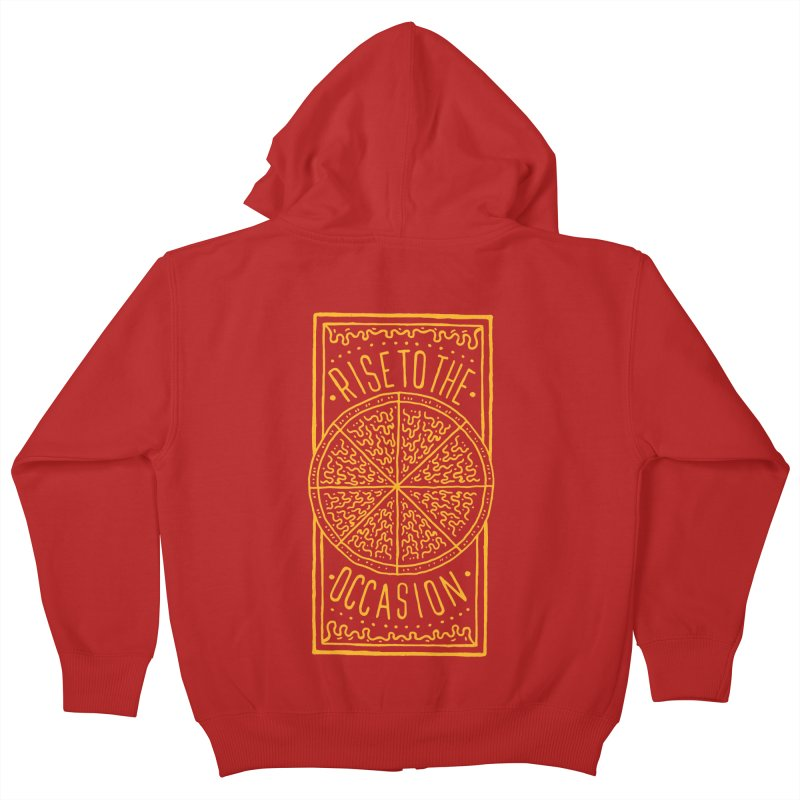 Rise To The Occasion  Kids Zip-Up Hoody by Rupertbeard
