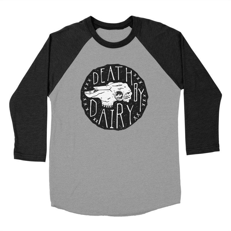 Death By Dairy  Men's Baseball Triblend T-Shirt by Rupertbeard