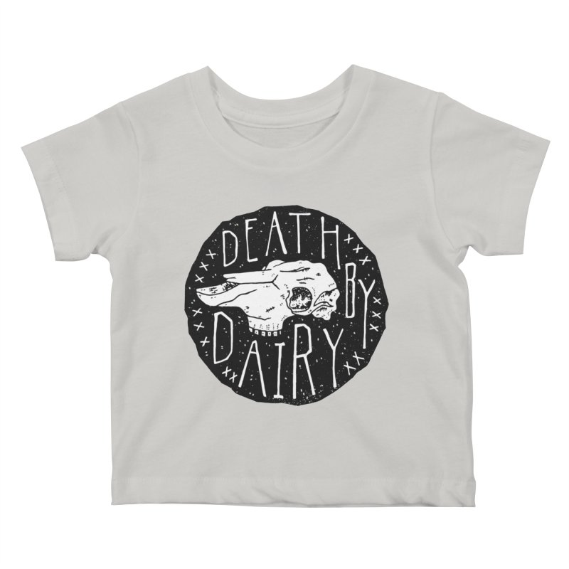Death By Dairy  Kids Baby T-Shirt by Rupertbeard