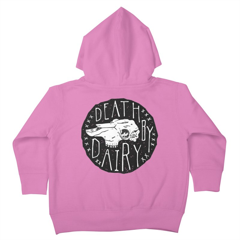 Death By Dairy  Kids Toddler Zip-Up Hoody by Rupertbeard