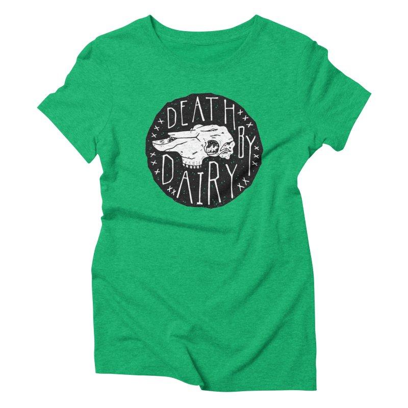 Death By Dairy  Women's Triblend T-shirt by Rupertbeard