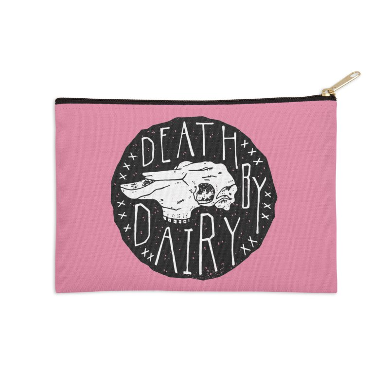 Death By Dairy  Accessories Zip Pouch by Rupertbeard