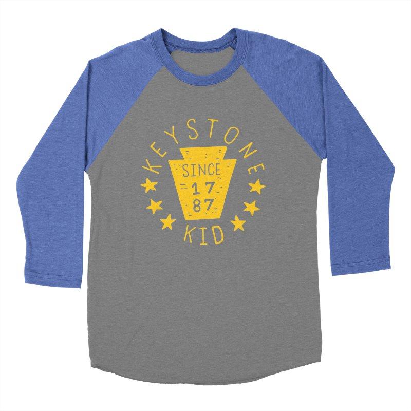 Keystone Kid Men's Baseball Triblend T-Shirt by Rupertbeard