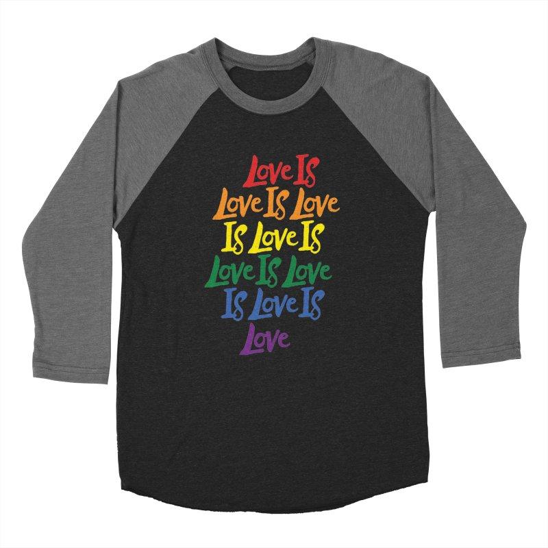 Love is Love is Love is Love is Love is Love is Love is Love Men's Baseball Triblend T-Shirt by Rupertbeard