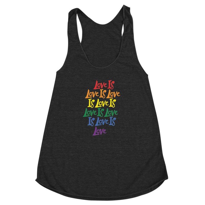 Love is Love is Love is Love is Love is Love is Love is Love Women's Racerback Triblend Tank by Rupertbeard