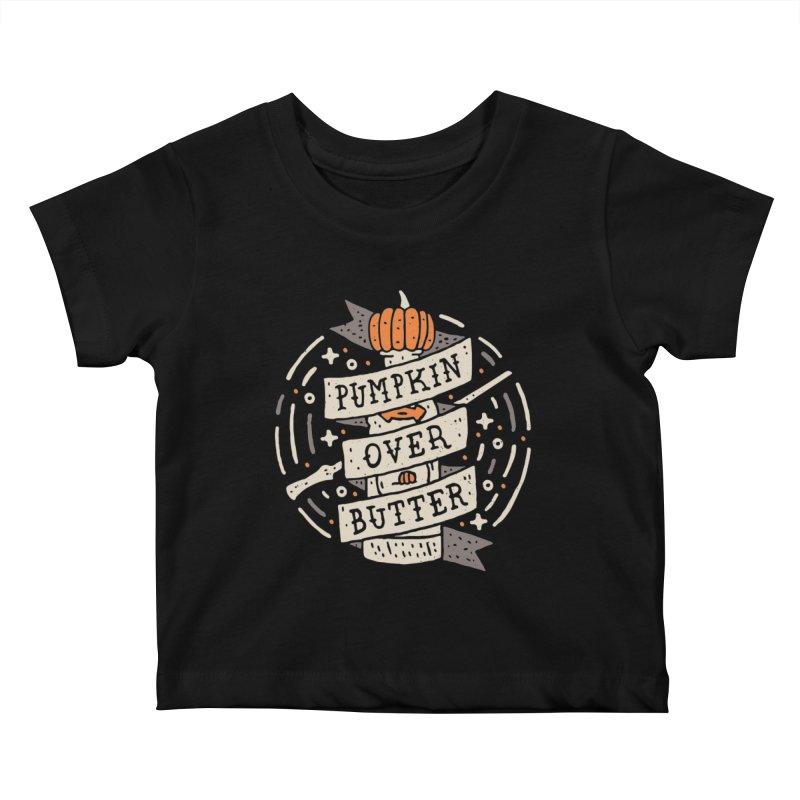 Pumpkin Over Butter Kids Baby T-Shirt by Rupertbeard