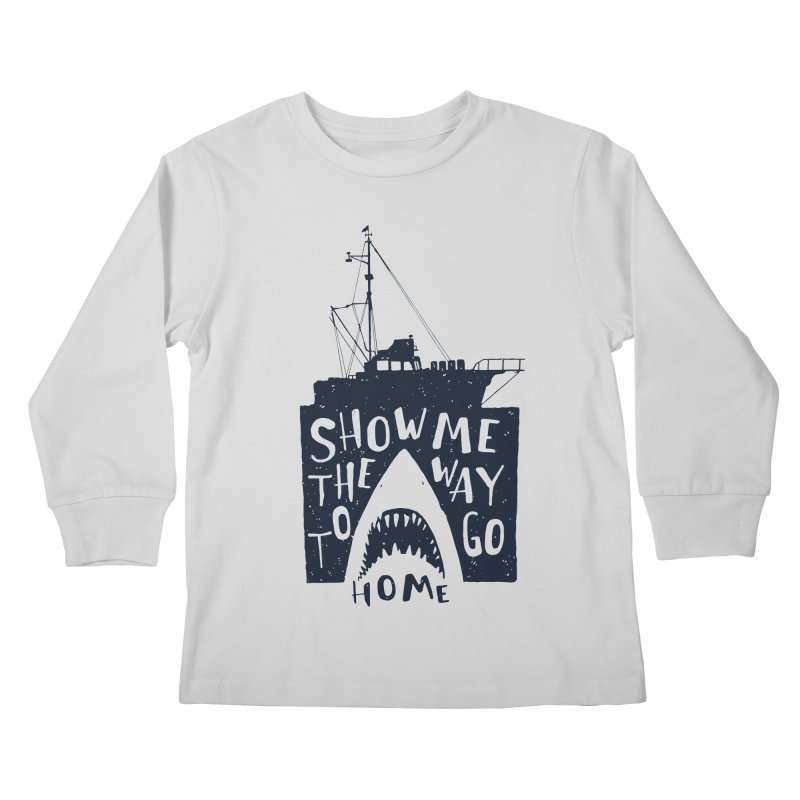 Show Me The Way To Go Home Kids Longsleeve T-Shirt by Rupertbeard