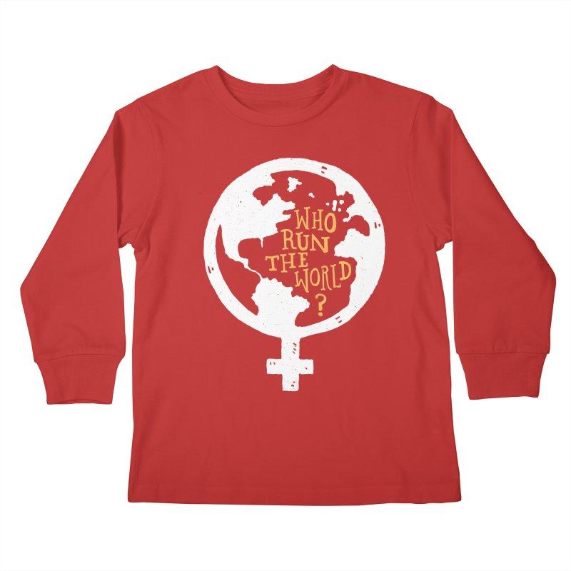Who Run The World? Kids Longsleeve T-Shirt by Rupertbeard