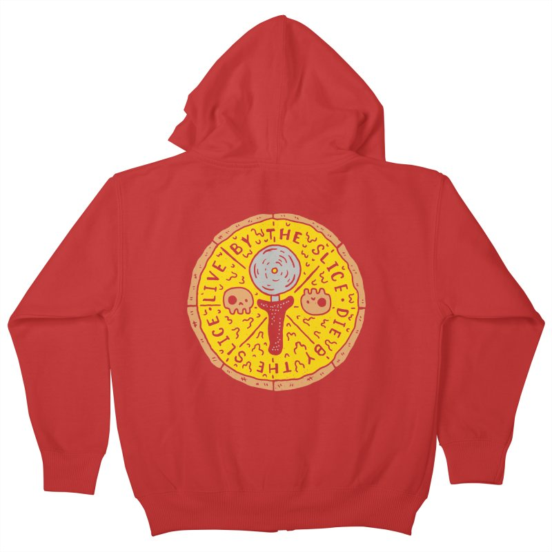 Live By The Slice Kids Zip-Up Hoody by Rupertbeard
