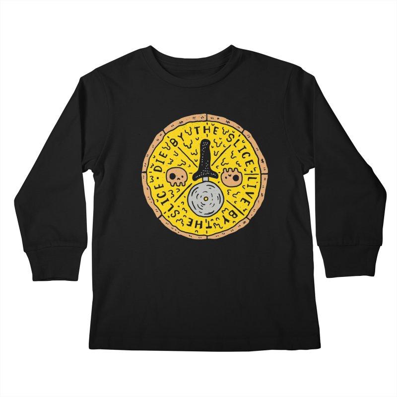 Die By The Slice Kids Longsleeve T-Shirt by Rupertbeard