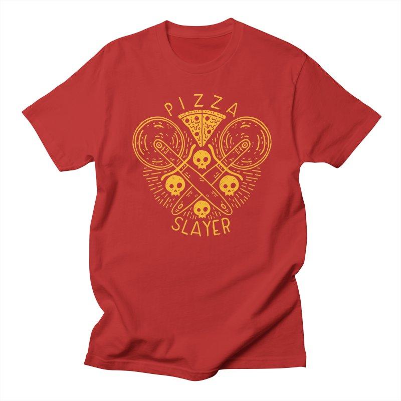 Pizza Slayer Men's T-shirt by Rupertbeard