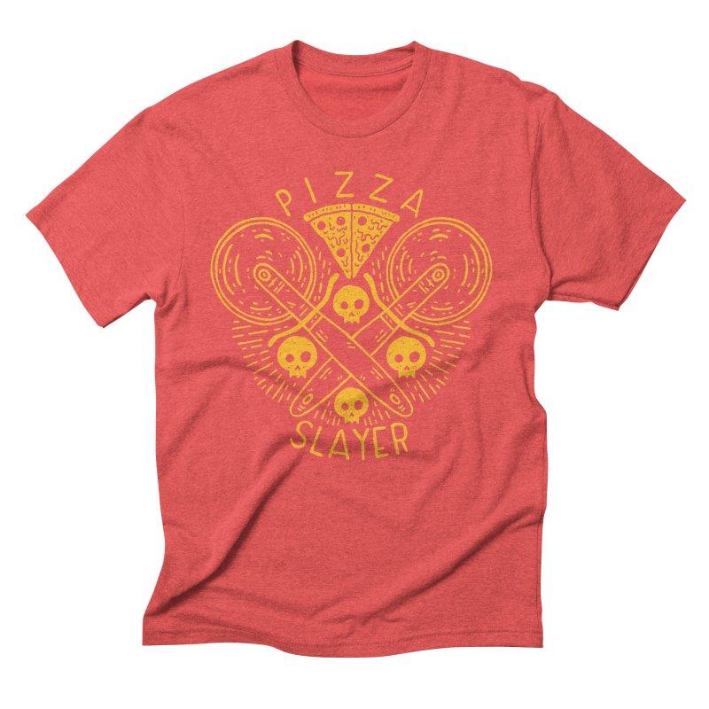 Pizza Slayer Men's Triblend T-shirt by Rupertbeard