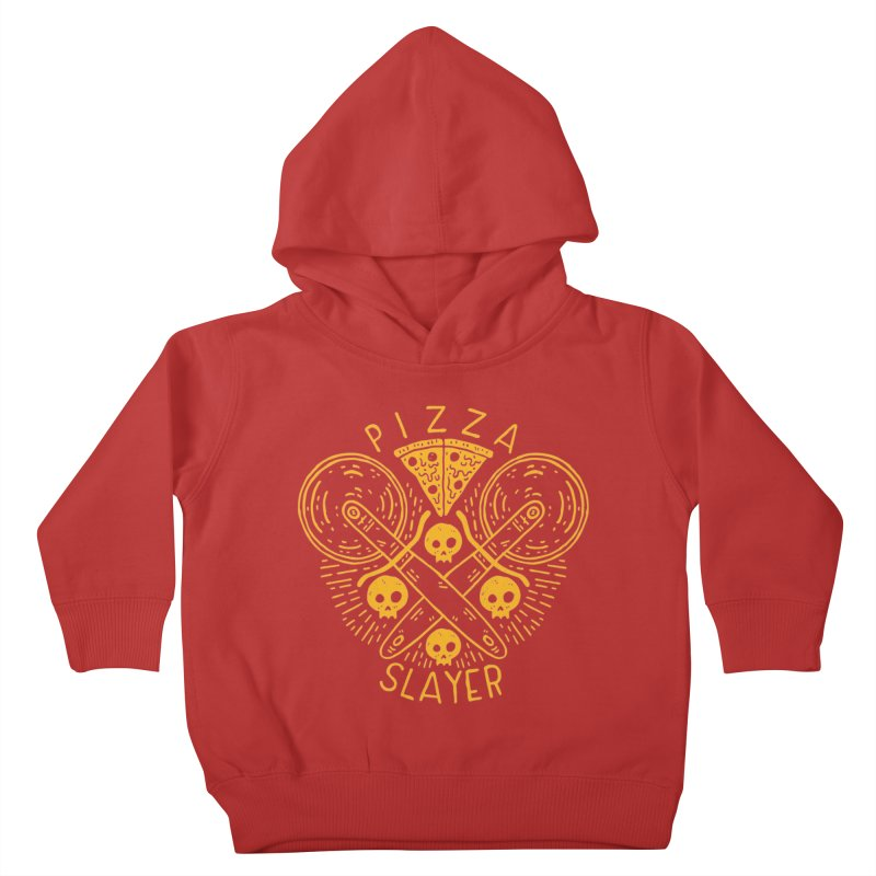 Pizza Slayer Kids Toddler Pullover Hoody by Rupertbeard
