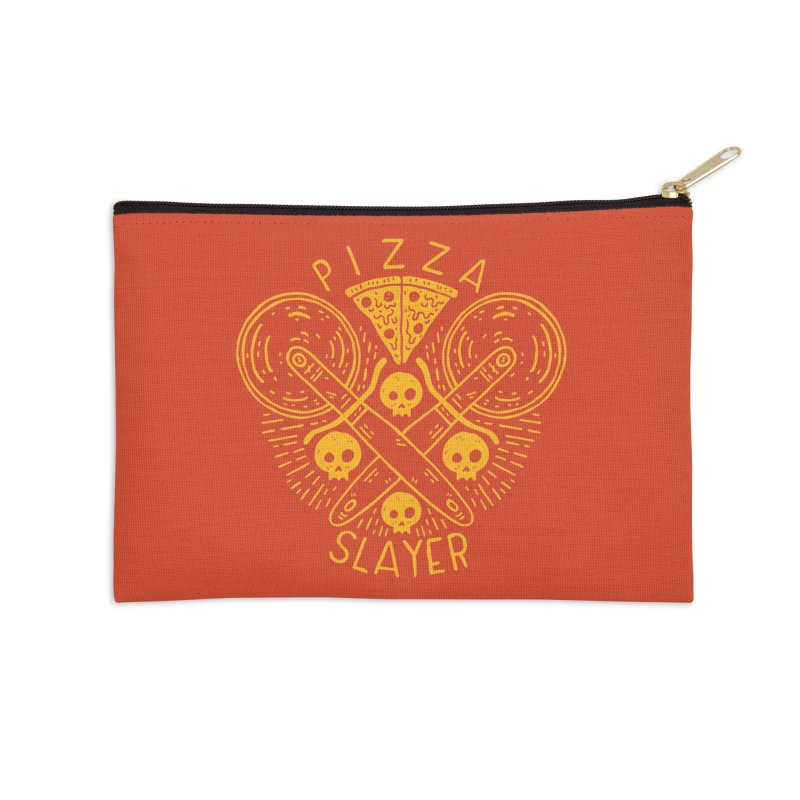 Pizza Slayer Accessories Zip Pouch by Rupertbeard