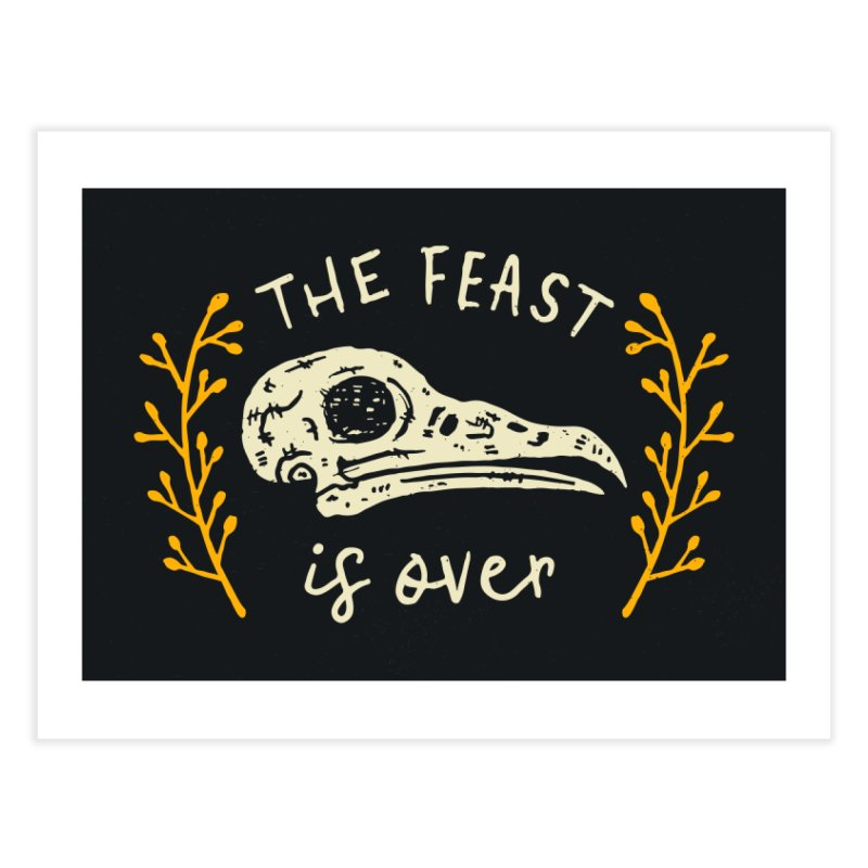 The Feast Is Over  Home Fine Art Print by Rupertbeard