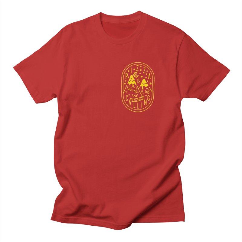Pizza is Calling Men's T-shirt by Rupertbeard