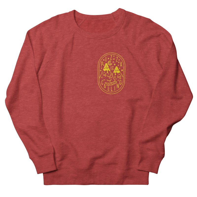Pizza is Calling Men's Sweatshirt by Rupertbeard