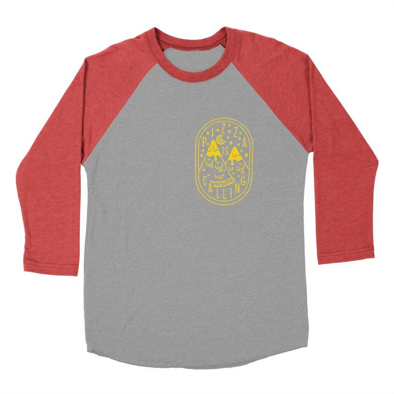 Pizza is Calling Women's Baseball Triblend T-Shirt by Rupertbeard