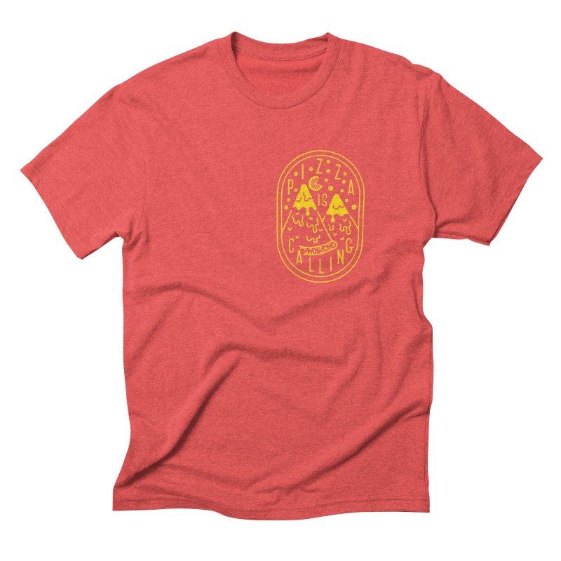Pizza is Calling Men's Triblend T-shirt by Rupertbeard
