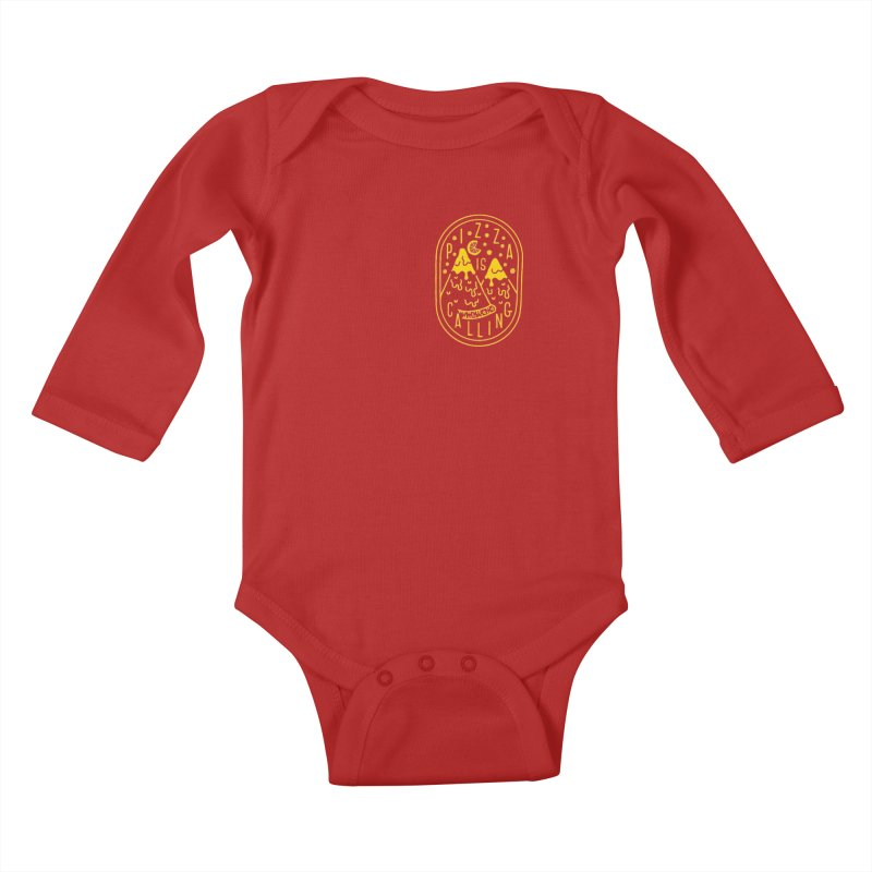 Pizza is Calling Kids Baby Longsleeve Bodysuit by Rupertbeard