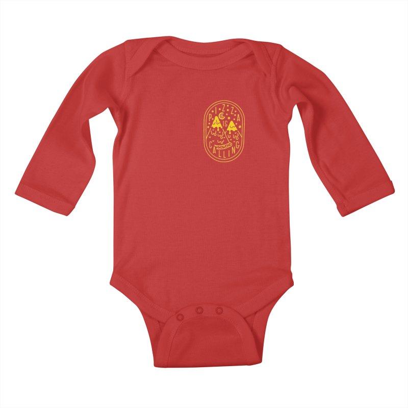Pizza is Calling Kids Baby Longsleeve Bodysuit by Rupertbeard