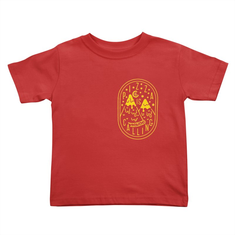 Pizza is Calling Kids Toddler T-Shirt by Rupertbeard