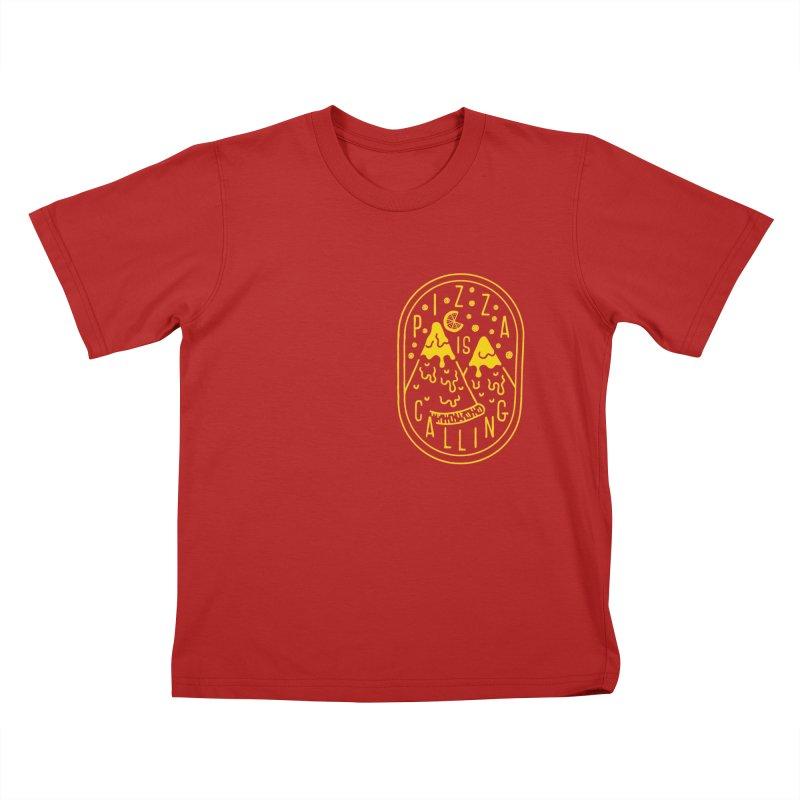 Pizza is Calling Kids T-shirt by Rupertbeard