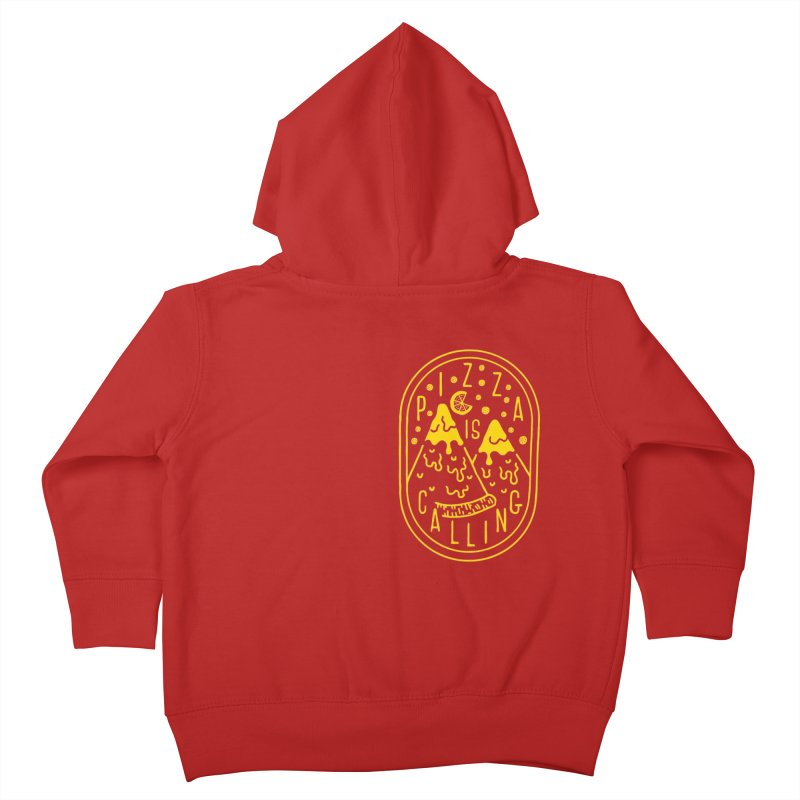 Pizza is Calling Kids Toddler Zip-Up Hoody by Rupertbeard