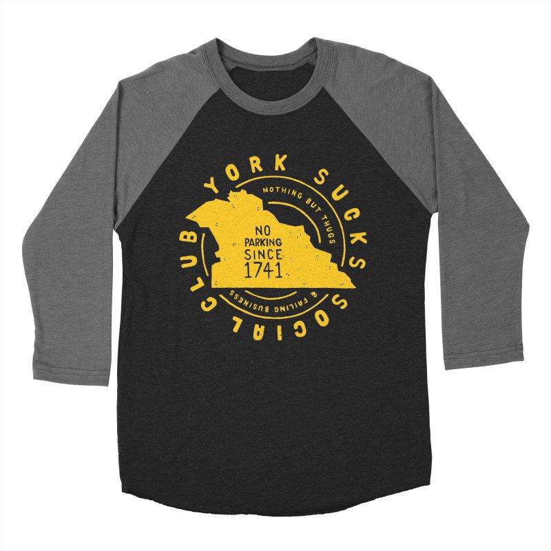 York Sucks Social Club Women's Baseball Triblend T-Shirt by Rupertbeard