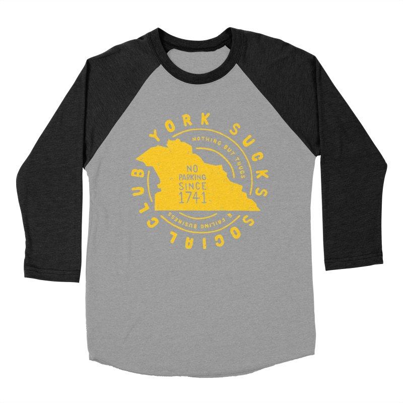 York Sucks Social Club Men's Baseball Triblend T-Shirt by Rupertbeard