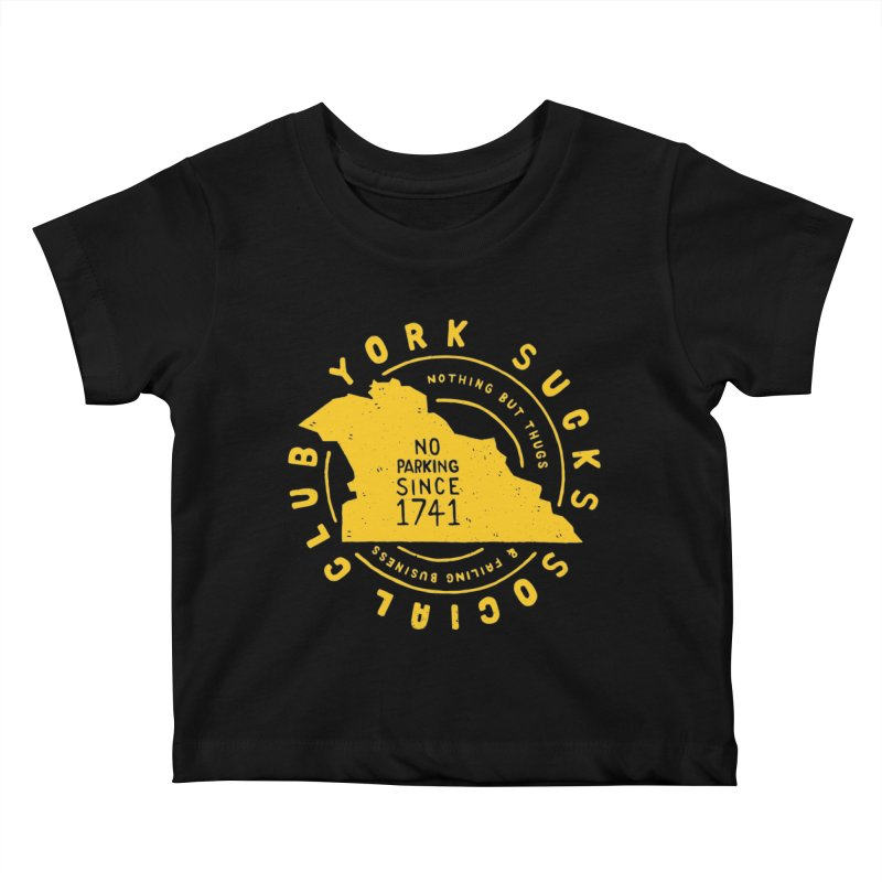 York Sucks Social Club Kids Baby T-Shirt by Rupertbeard