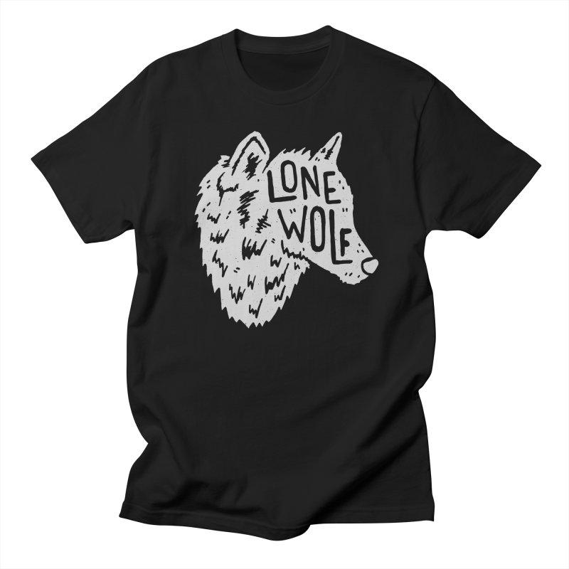 Lone Wolf Men's T-shirt by Rupertbeard