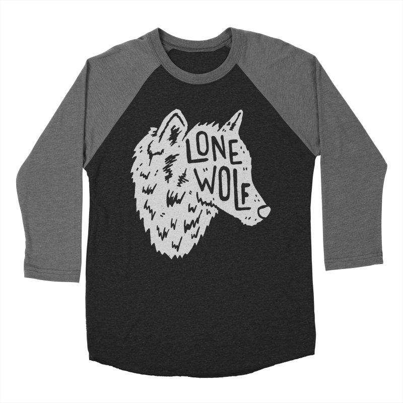 Lone Wolf Men's Baseball Triblend T-Shirt by Rupertbeard