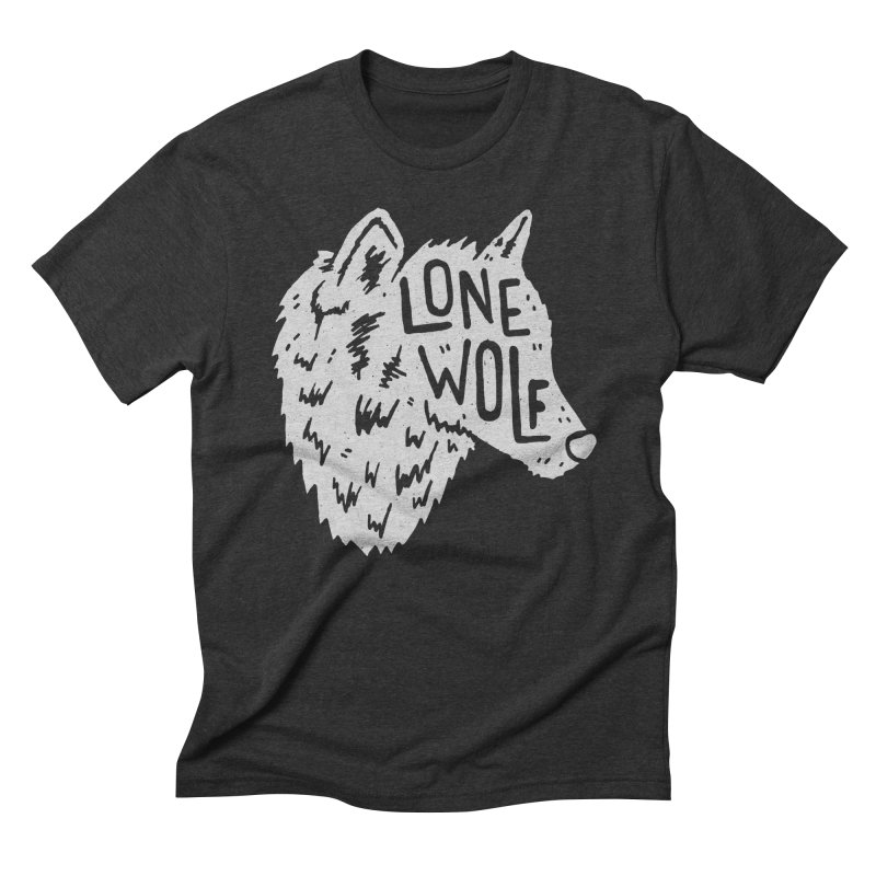 Lone Wolf Men's Triblend T-shirt by Rupertbeard