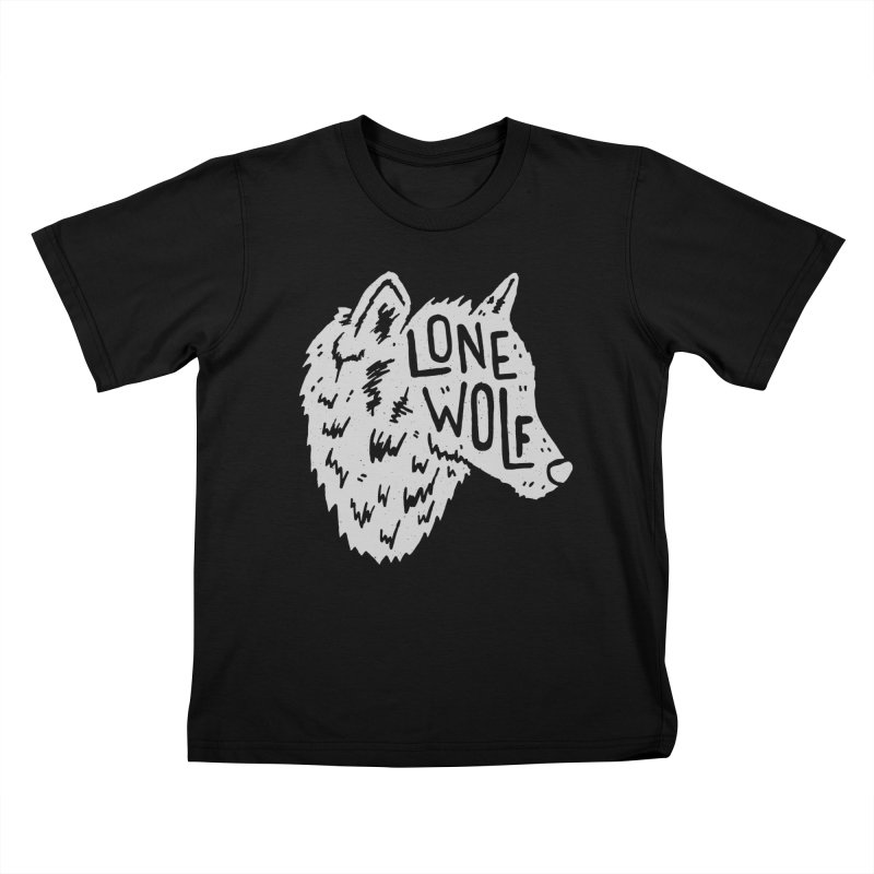 Lone Wolf Kids T-Shirt by Rupertbeard