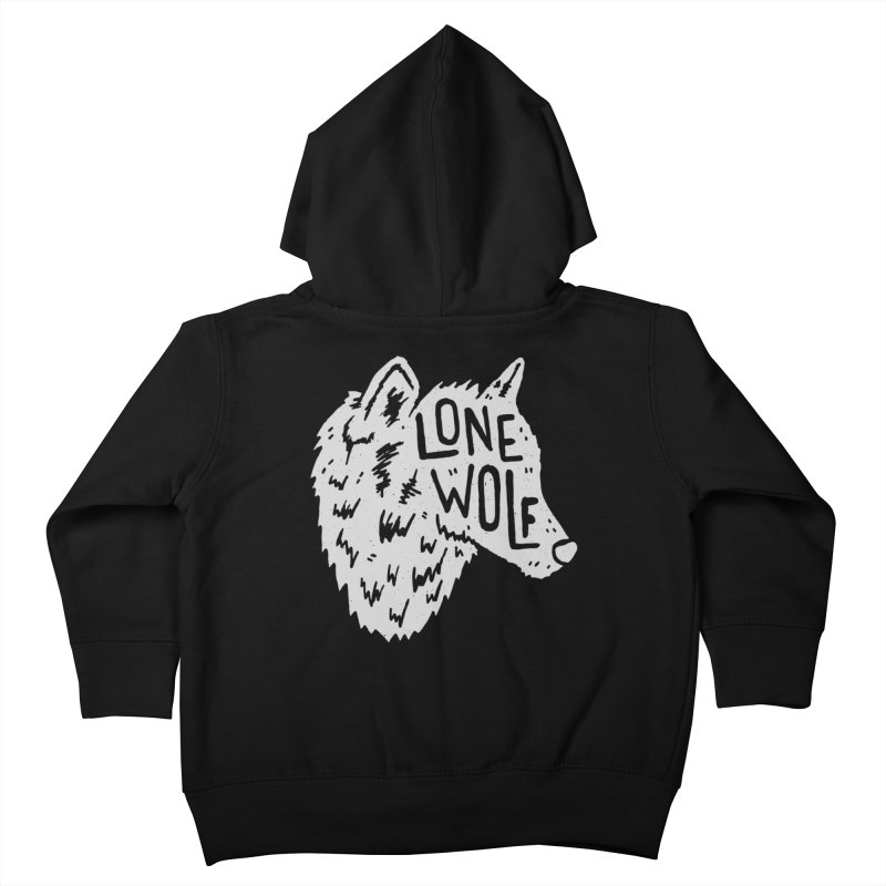 Lone Wolf Kids Toddler Zip-Up Hoody by Rupertbeard