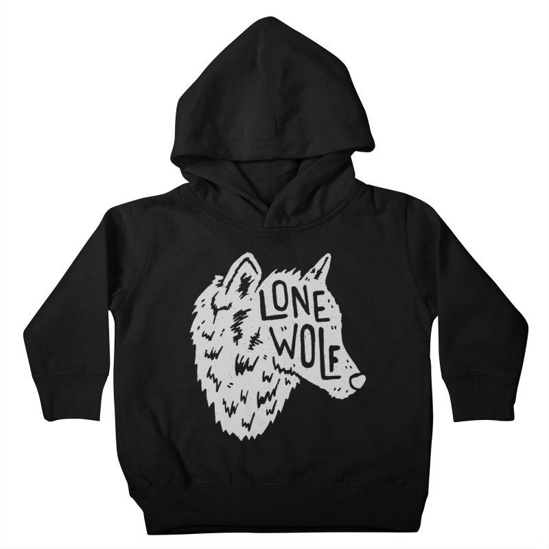 Lone Wolf Kids Toddler Pullover Hoody by Rupertbeard
